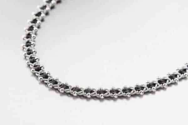 Photo of Necklace 3023 Silver/Leather